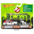 HOT WHEELS HWDRW73 GHOSTBUSTERS 1:64 ECTO CAR & 1:50 ECTO MOTOBIKE SET DIE CAST