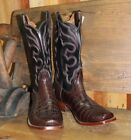 Rios of Mercedes Mens Chocolate American Alligator Belly Boots Size 11D