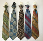 Vintage Ties CLIP ON 70s Hipster Groovy Neckwear Lot of 5 Original Hanger Tag