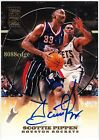 1999-00 TOPPS CERTIFIED AUTOGRAPH: SCOTTIE PIPPEN - ROCKETS AUTO HALL OF FAME