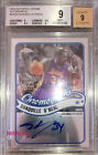 2003-04 TOPPS CHROME ON CARD AUTO: SHAQUILLE O'NEAL -LAKERS AUTOGRAPH SHAQ BGS 9