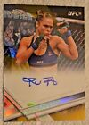 #01 25 2017 Topps UFC Chrome Ronda Rousey Gold Refractor Auto Autograph *