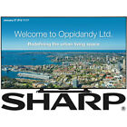 Sharp 80 Class Commercial LCD TV Brilliant 1920 x 1080 PN LE801