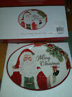 NIB Fitz & Floyd Crimson Holiday Serving Tray Merry Christmas COOKIE plate