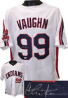 Charlie Sheen signed White Major League Ricky Vaughn Custom Stitched Jersey- PSA