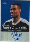 2012-13 LEAF METAL FACES OF THE GAME AUTO: DAVID ROBINSON #18 25 AUTOGRAPH SPURS