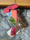 Antique Crazy Quilt Christmas Stocking