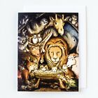Christmas Advent Animal Nativity Cards Set 8 pack Premium Matte Textured with
