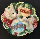 Fitz & Floyd Essentials Kristmas Kitty Cat Canapé Serving Plate~Wall Plaque