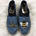Circus by Sam Edelman Denim Queen Bee Espadrilles Size 85 Embroidered Slip On