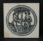 Wheeling Vintage Tile with Woman and Man