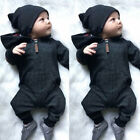 US Infant Newborn Baby Boy Girl Cotton Bodysuit Romper Jumpsuit Clothes Outfits