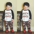USA Kids Baby Toddler Boys Girls Christmas Clothes T shirt Top Pants Outfit Set