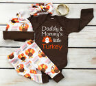 USA Thanksgiving Toddler Baby Romper Jumpsuit +Pant+Hat Clothes Outfits 4Pcs Set