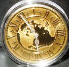 $300 Canada 14kt Gold Coin 2005 East Standard Time 45g/40mm BIG RARE 1200 Minted