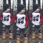 2Pcs Toddler Infant Kid Baby Boy Camouflage Clothes T shirt Tops+Pant Outfits US