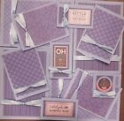 Premade Scrapbook Page Embellishment Kit SEWN 12 pieces Baby Reveal