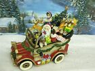 Fitz & Floyd Santa Mobile Musical Vintage Car Wish you a Merry Christmas 1427