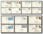 1970s 1980s Lot of 14 Postally Used UXC Airmail Postal Card to East Germany