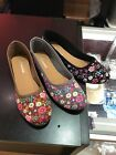 womens ballet flats slip on shoes round toe cotton pink black white