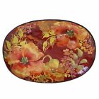Certified International Watercolor Poppies Ceramic Oval Platter