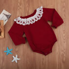 Newborn Infant Baby Girl Long Sleeve Bodysuit Rompers Jumpsuit Clothes US STOCK