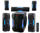 Rockville HTS56 1000w 51 Channel Home Theater System Bluetooth USB+8 Subwoofer