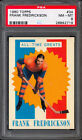 1960 61 TOPPS HOCKEY #34 Frank Frederickson PSA 8 NM-MINT All-Time Greats Burins