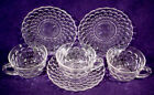 SAUCER Set CRYSTAL Clear GLASS Mug LOT