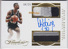2015-16 FLAWLESS DUAL PATCH AUTO: DAVID ROBINSON #4 25 ON CARD AUTOGRAPH SPURS