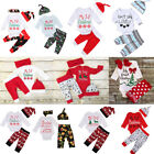 US Baby Boys Girls Tops T shirt Pants Leggings Outfits Set Clothes Christmas