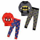 Kids Toddler Baby Boys Halloween Batman Spider man Sleepwear Pjs Pajamas Sets