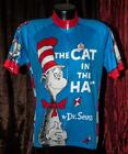 Dr Seuss Cat In The Hat Cycling Jersey by Retro Image Apparel Women Size Large