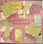 Premade Scrapbook Page Embellishment Kit SEWN 12 pieces Believe