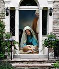 Nativity Scene Christmas Door Murals Front Door Cover Outdoor Holiday Decor 6