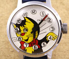 Ruhla Cat Moving Eyes Mechanical Children Watch 29mm New Old Stock