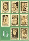 1980-1983 Cramer MLB Hall of Fame and OTHER Baseball Greats & Legends - NM/MT