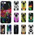 For Apple iPhone 7 Plus Hybrid Case Retro Galaxy Owls Dr Who and More Designs