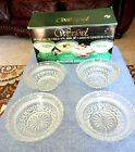 NIB WEXFORD ANCHOR HOCKING 4 PC BOWL SET GLASS * NICE SIZE *ELEGANT