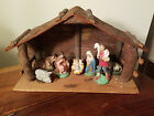 Vintage Chalkware Holiday Christmas Nativity 8 Piece Set Made in Japan