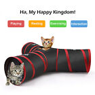 Folding 3 WAY Y Shape Pet Rabbit Cat Kitten Play Toy Exercise Tunnel Cave House