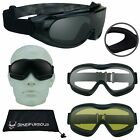 Motorcycle Goggles that Fit Over Cover Glasses  Yellow Clear Dark Grey Lens