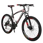 Eurobike 275 Mountain Bike 21 Speed Disc Brakes Full Bicycle Mens MTB Bikes