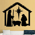 Wall Stickers Christmas Xmas Crib Nativity Scene Play School Art Decal Vinyl