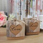 50pcs Rustic Wedding Bridal Shower Favor Boxes with Natural Twine String
