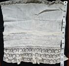 A12 Antique Edwardian Lace Fabric Salvage Sewing Costumes French Doll Clothes #2