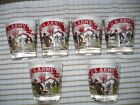 Vintage US Army Glass Tumblers 1940-50's Set of SIX  Federal Glass Company RARE