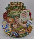 Fitz and Floyd Christmas Wreath Shaped Plate Canape Tray Santa's Workshop