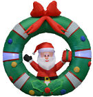 Impact Canopy Christmas Decorations Outdoor Inflatables Santa with Wreath 4 ft