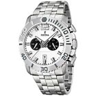 Festina F16613/1 Mens Watch Chronograph 47mm Stainless Steel Case White Dial